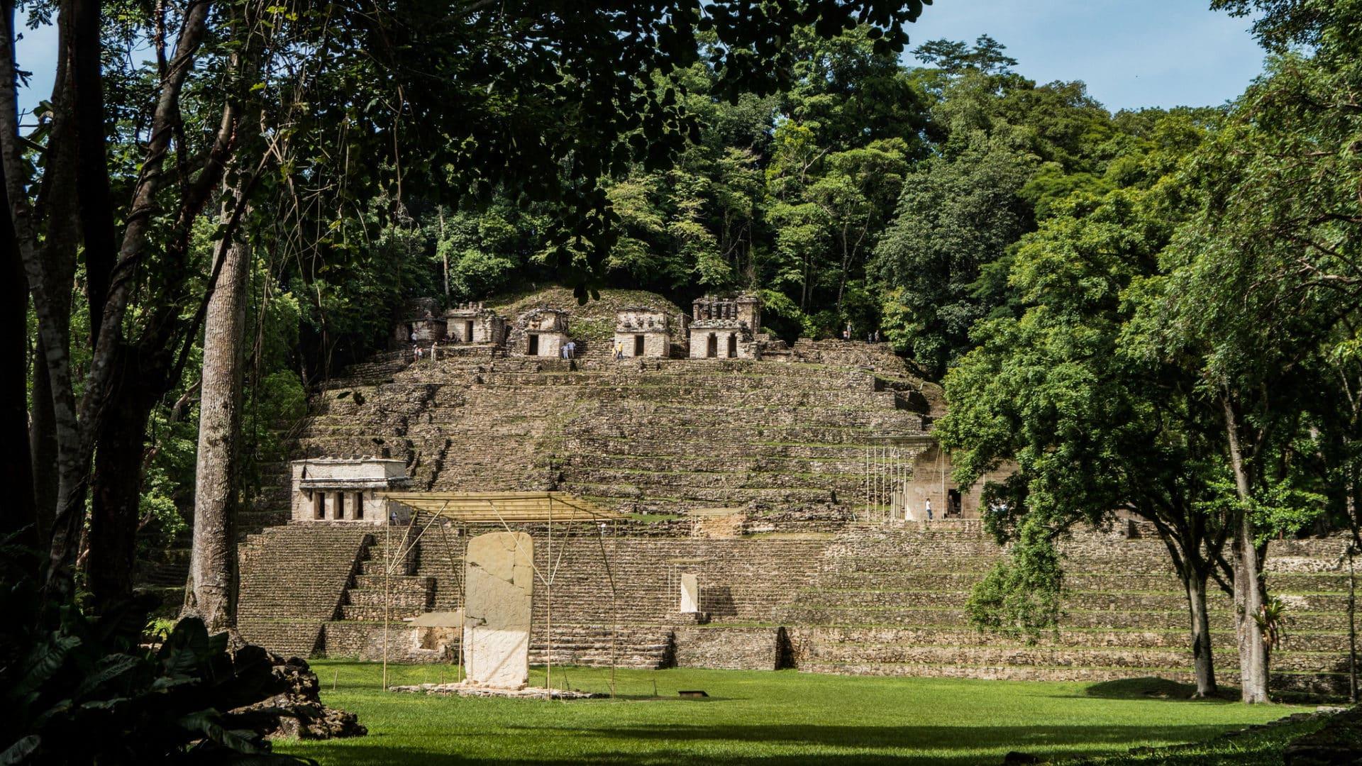 Vue de l'ensemble du site de Bonampak