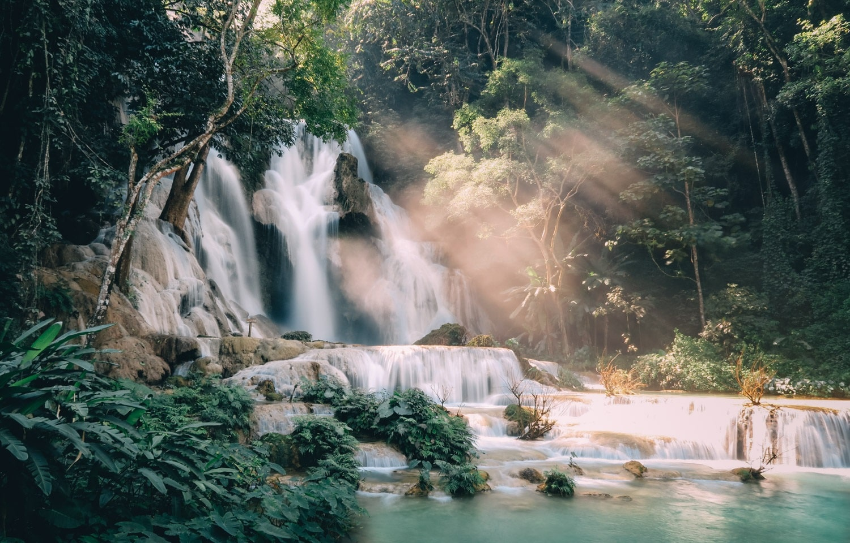 Vue de l'une des cascades de Chiflon