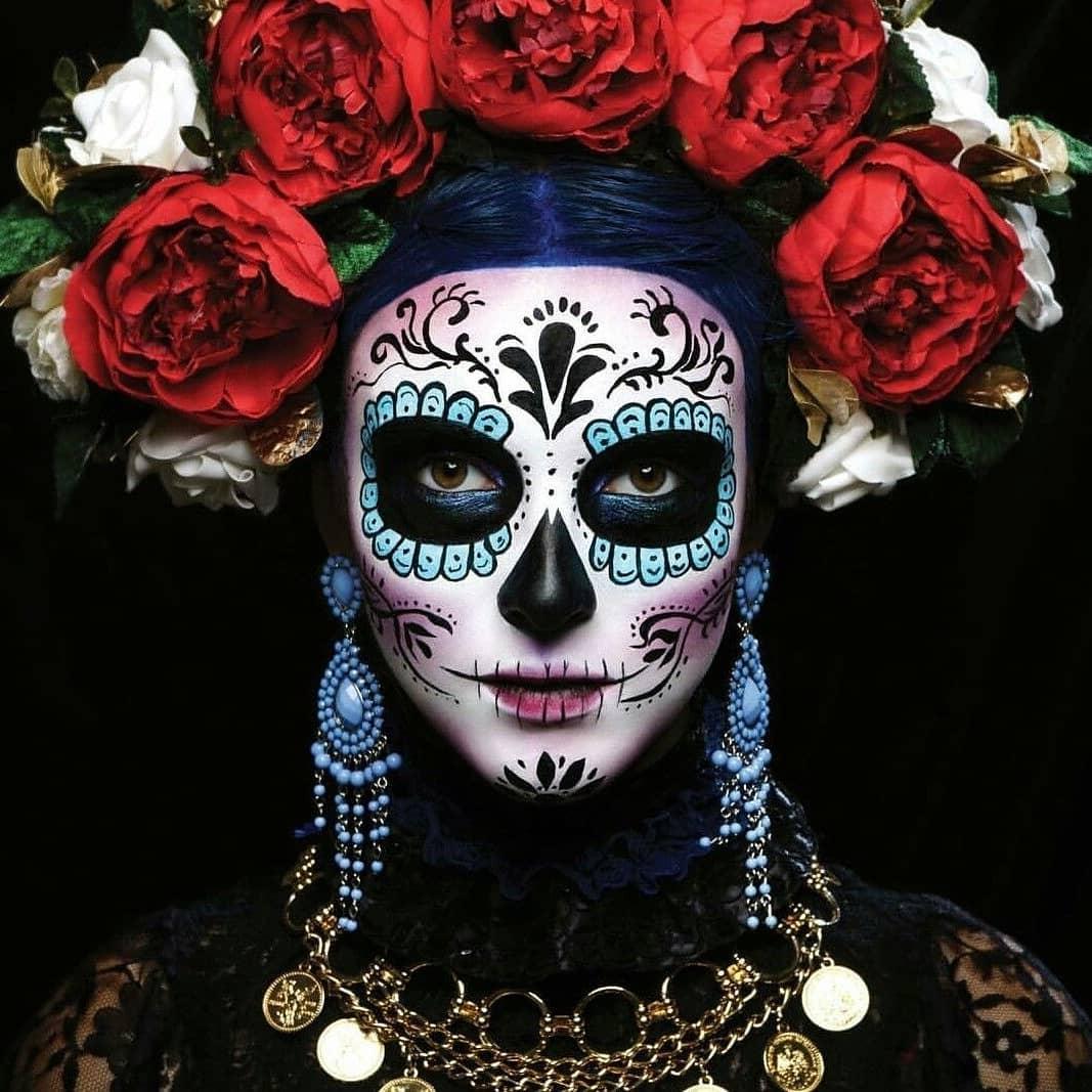 Photo de femme lors du Dia de los Muertos