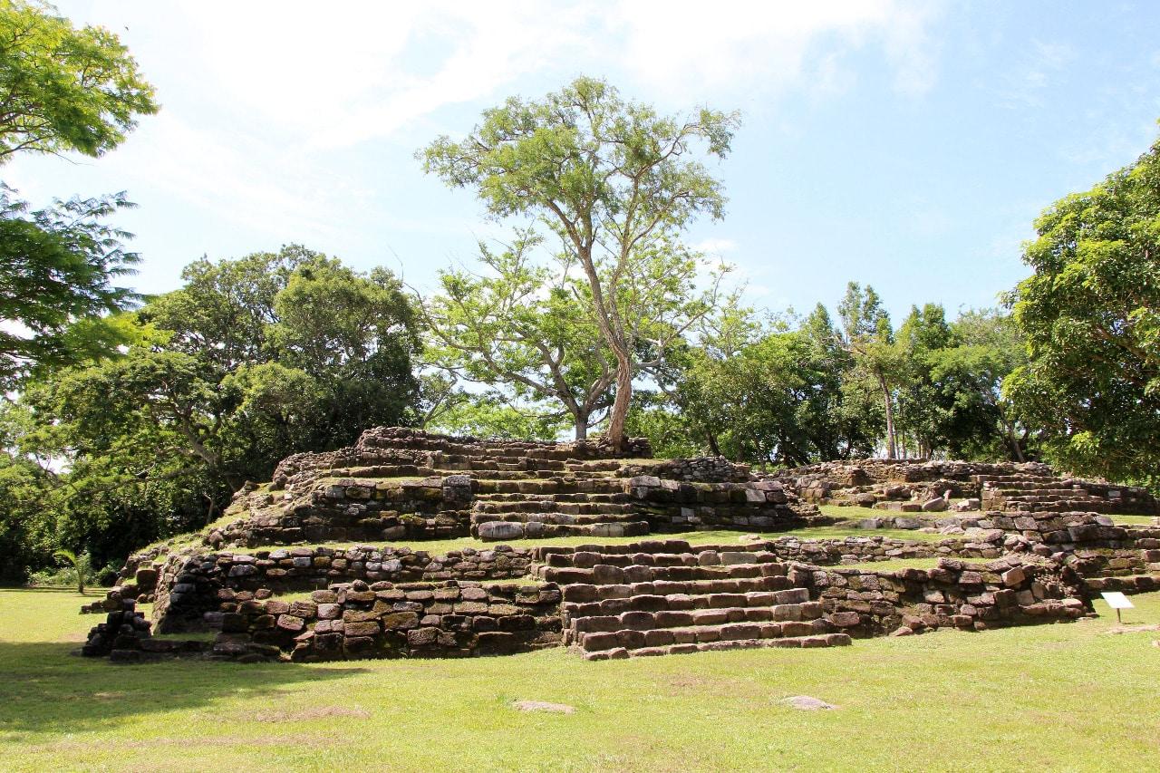 Vue sur le site d'Iglesia Vieja au Chiapas