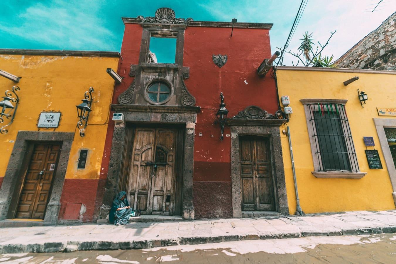 Vue sur des maisons au Mexique