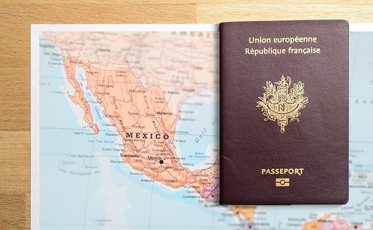 Carte du Mexique et passeport français