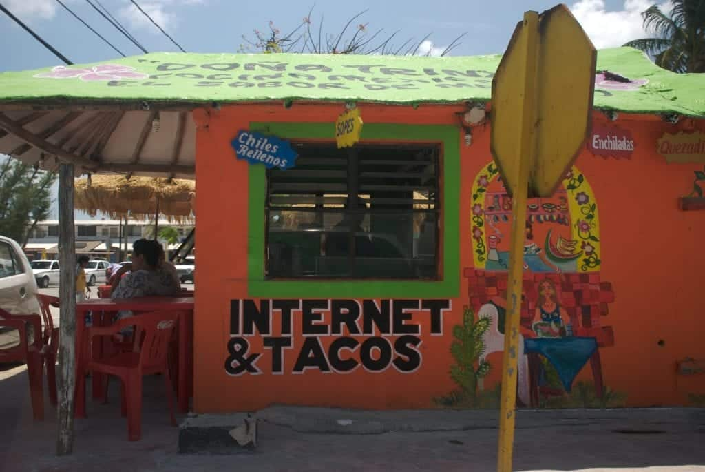 Magasin Tacos et Internet