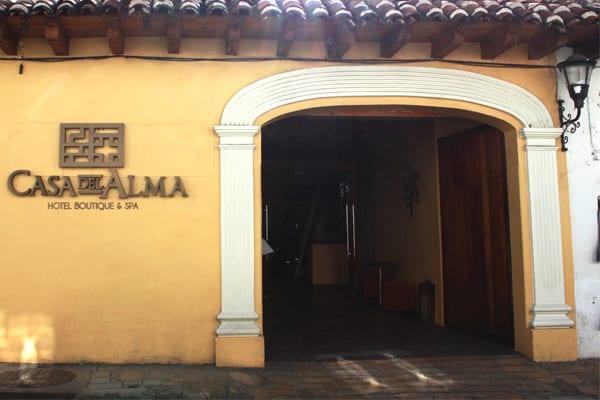 Vue de l'hôtel Casa del Alma