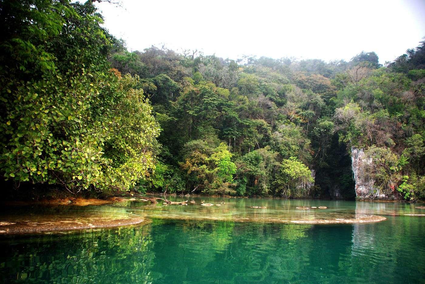 Vue des lagunes de Miramar