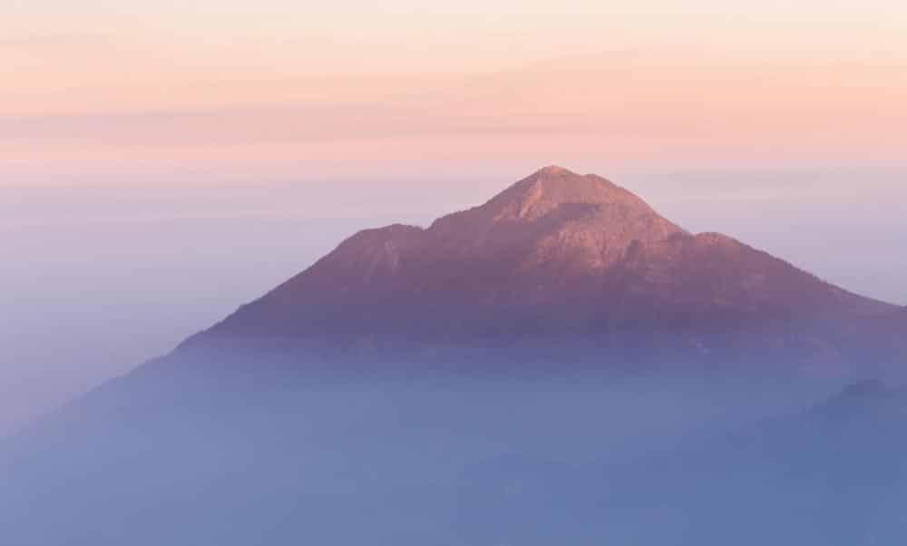 Vue du volcan Tacana