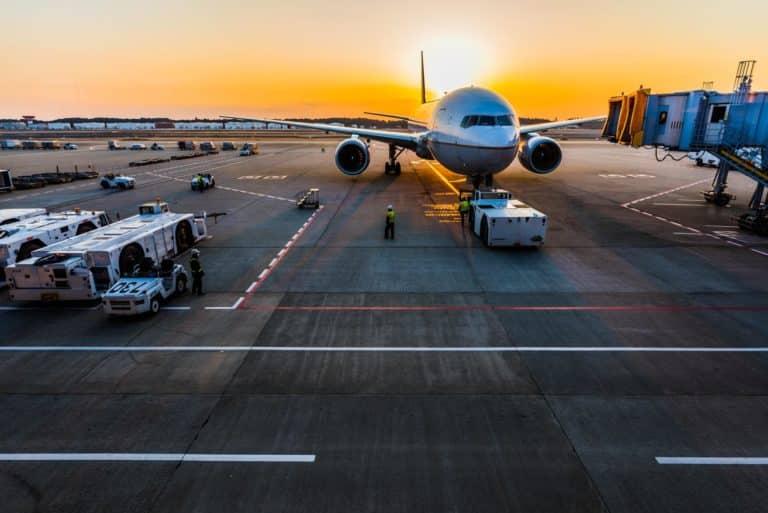 Vue d'un aéroport
