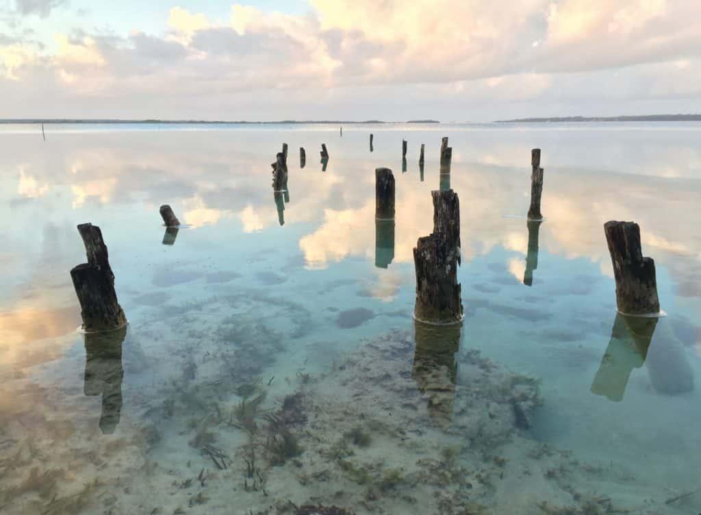 Vue plage de Bacalar