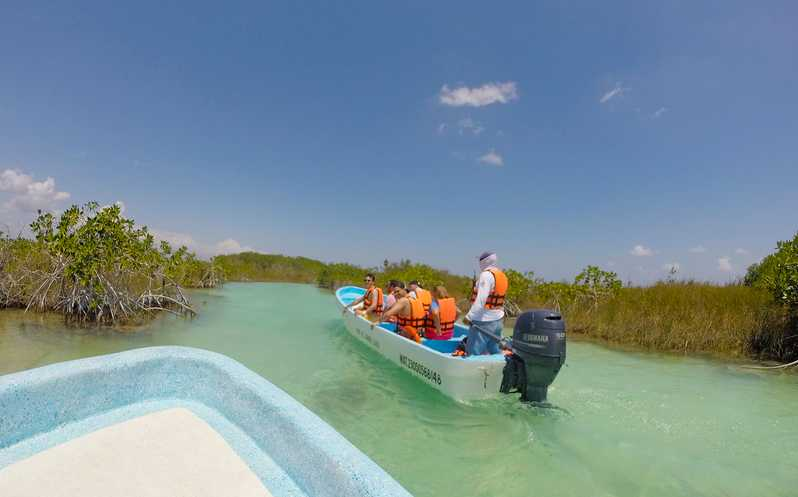Vue de la réserve de biosphère de Sian Ka'an au Mexique
