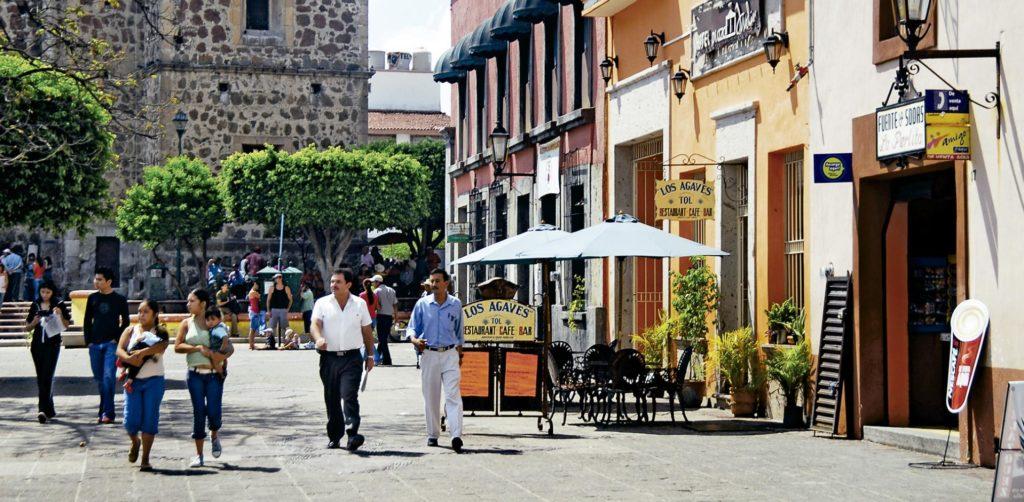 Vue sur la ville de Tequila au Mexique