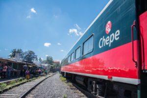 Vue d'El Chepe au Mexique