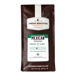 Fresh Roasted Coffee LLC, Organic Mexican Chiapas Coffee, Whole Bean, 2 Pound Bag