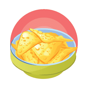 Chips mexicain Flat Design