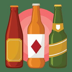 Bière mexicaine Flat Design