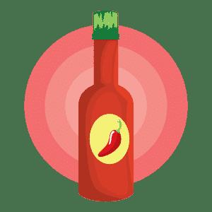 Sauce piment mexicaine Flat Design