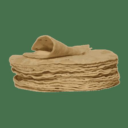 Tortillas de maïs blanc 15 cm (20 tortillas)