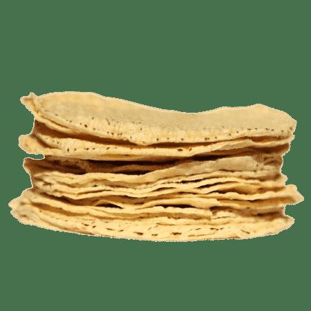 Tortillas de maïs jaune 15 cm (20 tortillas)