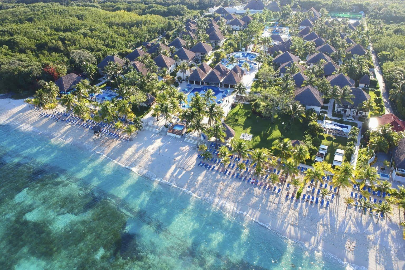 Vue de la plage de Cozumel